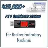 425,000 Embroidery Machine Patterns Designs Collection in PES Format