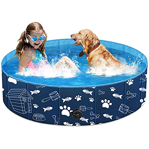 Unido Foldable Dog Pet Pool for Kids Cats, Kiddie...