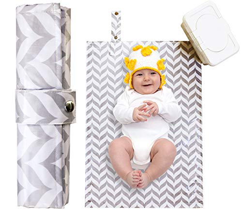 Best Portable Diaper Changing Pad for Baby, Toddler, Diaper Bag, Baby Backpack, Clutch, Kit, Changing Station Caddy, Travel Mat - Waterproof, Wipeable & Washable - Cushioned Quilted Padding