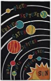Mohawk Home  Aurora Solar System Colorful Printed Contemporary Kids Area Rug,5'x8',Black