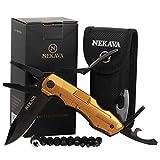 Outil multi-fonction 5 en 1 NEKAVA avec couteau pliant en acier inoxydable...