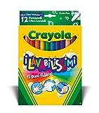CRAYOLA-I Lavabilissimi Pennarelli Ultra-Lavabili, Punta Fine, per Scuola e Tempo Libero, Colori Assortiti, 12 Pezzi, 58-8331
