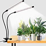 LED Grow Light,6000K Full Spectrum Clip Plant Growing Lamp with White Red LEDs for Indoor...
