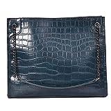 YANKAI Bolso de la Cadena de la Moda de la Bolsa de Hombro de Todo Partido Lady Messenger Bag,Azul
