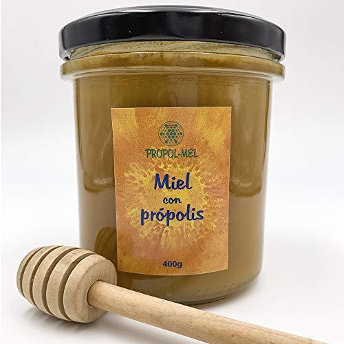 Miel con Propoleo x 400 g. Miel natural con aroma floral, pu