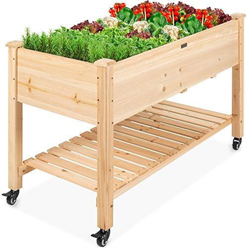 Best Choice Products Raised Garden Bed 48x24x32-inch Mobile Elevated...
