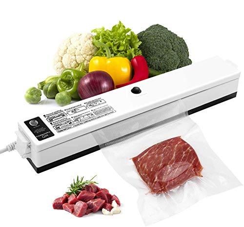 Macchina Sottovuoto per Alimenti, iLmyh Sigillatore Automatico Sottovuoto per Alimenti Freschi Sia Secchi Che Umidi, Adatto per Uso Campeggio e Domestico con 15 Pezzi Sacchetti Sottovuoto(2025cm)