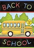 Briarwood Lane Back to School Bus Autumn Garden Flag Fall 12.5' x 18'