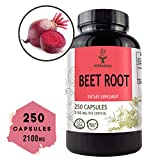 Beet Root 250 Capsules 2100 mg per Serving   Filled with Beet Root Powder   Energy, Stamina, Performance   Anti-Inflammatory   Digestive Function   Immune Booster   Blood Pressure Support   Non-GMO