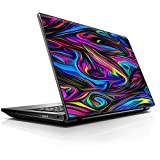 15 15.6 inch Laptop Notebook Skin Vinyl Sticker Cover Decal Fits 13.3' 14' 15.6' 16' HP Lenovo Apple Mac Dell Compaq Asus Acer/Neon Color Swirl Glass