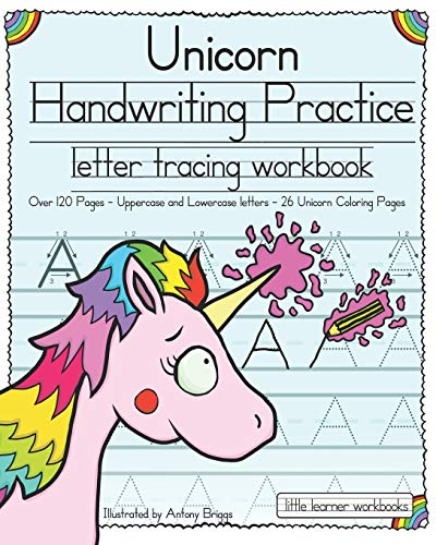 Unicorn Handwriting Practice: Letter Tracing Workbook...