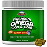 Pure Omega Fish Oil for Dogs, All Natural Omega 3 for Dogs Skin and Coat Supplement, Helps with Dog Dry Skin, Immune Support and Heart Health with EPA and DHA, 120 Fish Oil Soft Chews