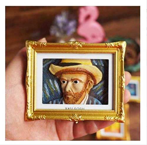 Zyhoue Adesivi per Frigoriferovincent (Van Gogh Horizontal) Creative Van Gogh Stereo Photo Frame...