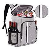 FORICH Cooler Backpack Insulated Leak Proof Backpack Cooler Bag Lightweight Soft Beach Cooler Backpack for Men Women to Work Lunch Picnics Camping Hiking, 30 Cans (Grey)