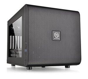Thermaltake Core V21 SPCC Micro ATX Cube Computer Chassis CA-1D5-00S1WN-00,Black