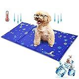 Wimypet Tappetino Raffreddamento Cani 90x50cm, Tappetino Rinfrescante per Cani Gel Non Tossico Sistema di Auto Raffreddamento Perfetto per per Animali e Gatti in Estate