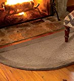 2' x 4' Madrid Banded Half-Round Hearth Rug,in Chocolate