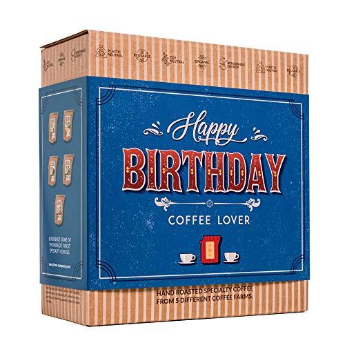 Kaffee Geschenk Set zum Geburtstag - 5 Beste Single Estate Spezialitäten & Bio Kaffees Aus Aller...