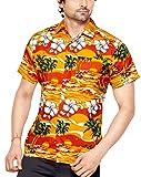 CLUB CUBANA Chemise Hawaiienne Classique, Étroite, Florale, Décontractée À Manches Courtes pour Hommes M