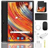 Tablet 10 Pulgadas 4G/WiFi Android 9.0 Pie Ultrar-Rápido Tablets 3GB RAM + 32GB ROM/128GB Escalable   Laptop Convertible de Oficina   Dual SIM - 8000mA Bluetooth5.0 GPS Tablet (5+8.0MP Cámara) Negro