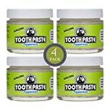 Uncle Harry's Natural & Fluoride-free Remineralizing Toothpaste - Freshens Breath & Strengthens Enamel - Peppermint (4 pack, 3 oz. jar)