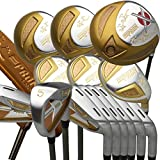Japan Epron Titanium Driver Fairways Wood Hybrids 4-Sw Stain Steel Irons and CNC Face Putter Golf Club Set,with Headcover,Regular Flex,Graphite Shaft,Pack of 22