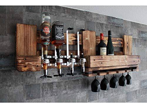 WANDBAR rustikal -handmade- mit 4cl DOSIERSPENDER für Cocktails, Longdrinks, etc.