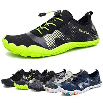 Water Shoes for Men and Women Quick-Dry Aqua Sock Outdoor Athletic Sport Shoes for Kayaking,Boating,Hiking,Surfing,Walking (A-Black/Green, 48)