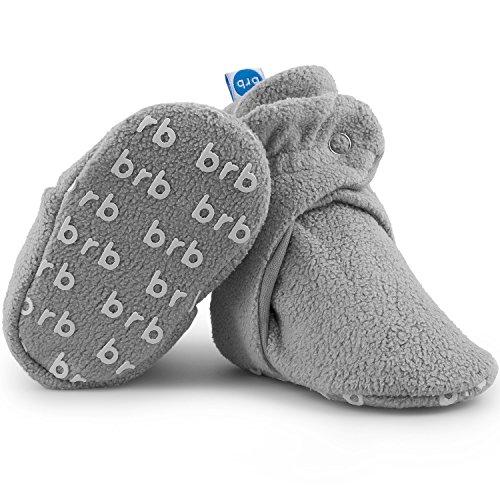 BirdRock Baby Botines de Bebé - Suave Algodon Organico, Mejor Que Calcetines! - Zapato Bebés (US 7, Koala)