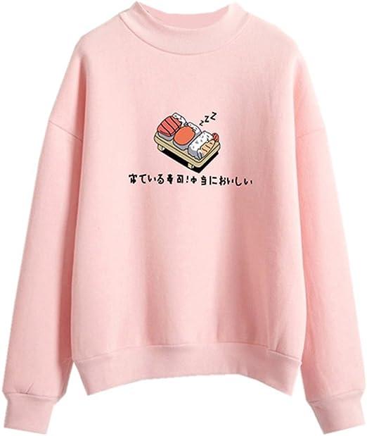 pink cute sushi sweater