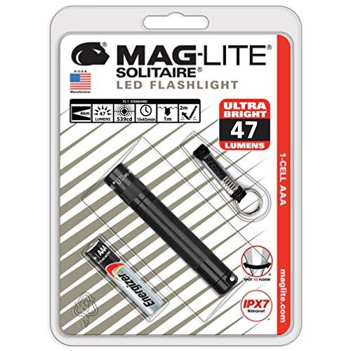 MAGLITE(マグライト) ソリテールLED ギフトBOX入り ブラック 10年保障 SOLITAIRE LED single AAA