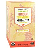 Organic Ginger Turmeric Herbal Tea 20 envelopes each (Pack of 2) (Premium pack)