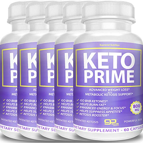 Keto Prime Diet Pills Advanced Weight Loss - Go BHB Ketones - Burn Stubborn Fat - Enhanced Energy & Focus - Suppress Appetite - Ketosis Booster (5 Month Supply) 1