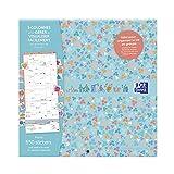 Calendrier Oxford Famille scolaire 16 mois 30x30cm 1 mois sur 2 pages Année...