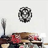 TJVXN Classique tête de Lion Vinyle Stickers muraux décoration de la Maison Salon Salon canapé Mur Art Sticker Mural 57X64Cm