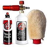 Adam's Mega Foam Shampoo - pH Neutral Wash Soap Designed for Mega Suds in Your Bucket, Foam Cannon, Gun, Sponge, Mitt, Chamois - Won't Strip Wax Sealants or Ceramic Coatings (Mega Foam Cannon Kit)