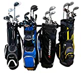StoreYourBoard Golf Organizer, Garage Storage Rack, Adjustable Wall Mounted Hanger, Golf Bags and Accessories ((4) Bags)