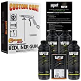 U-POL Raptor Black Urethane Spray-On Truck Bed Liner 4 Quart Kit w/Free Custom Coat Spray Gun with Regulator
