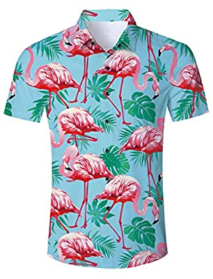 ♪SIZE TIPS: Some styles do run small so if you are deciding which size to pick,It's best to go up one size. Just to be safe. ♪100% NO FADING: Hawaiian Style Shirts are uniquely crafted with HawaiI Floral and Animal Graphic,colourful and bright - Casu...