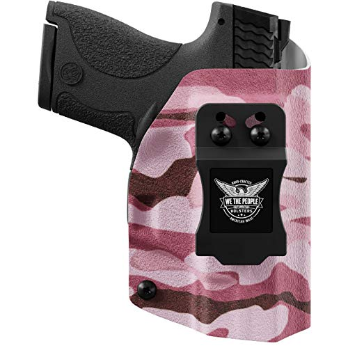 We The People Holsters - Pink Camo - Left Hand Inside Waistband Concealed Carry Kydex IWB Holster Compatible with Taurus Millenium PT111 G2 / G2C 9MM