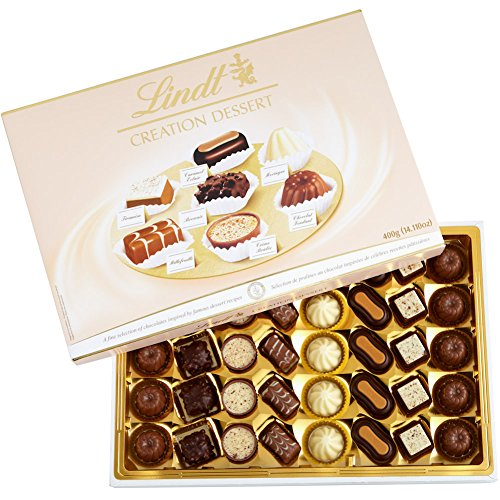 Lindt Creation Dessert, Assorted Chocolate Gift Box, Great for Holiday Gifting, 40 Pieces