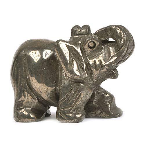 Justinstones Gemstone Elephant Pyrite Crystal Animal Totem...