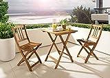 XXS Gartenstuhl Sitzmöglichkeit aus Akazien-Holz massiver Klappstuhl - 5