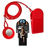 NiceCo Treadmill Safety Key, Universal Treadmill Magnet Security Lock, 28mm Magnetic Shell, Replacement Kit for Sole, Weslo, Weider, Epic, Healthrider (Red)