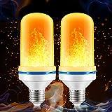 Suzzam Lot de 2 ampoules à flamme 4 W E27 4 modes d'éclairage Décoration pour...
