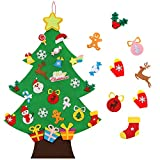 TOBEHIGHER Felt Christmas Tree - 3.6 FT 3D DIY Set for Kids with 33 Pieces of Ornament Decor, Wall Hanging Christmas Tree Decorations