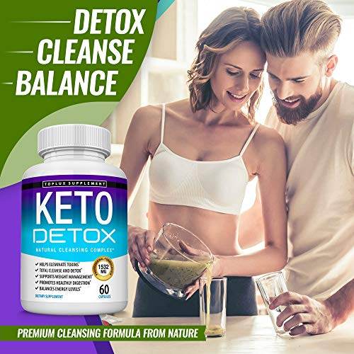 Keto Detox Pills Advanced Cleansing Extract – 1532 Mg Natural Acai Colon Cleanser Formula Using Ketosis & Ketogenic Diet, Flush Toxins & Excess Waste, for Men Women, 60 Capsules, Toplux Supplement 7