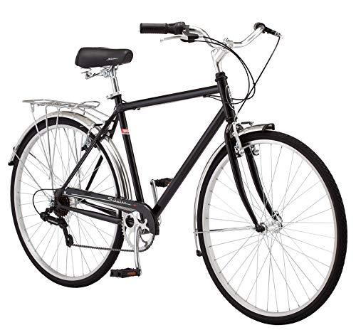 Schwinn Wayfarer Adult Bike Hybrid Retro-Styled Cruiser, Step-Over or Step-Through frame option, 7-Speed Drivetrain, Rear Rack, 700C Wheels, Multiple Colors
