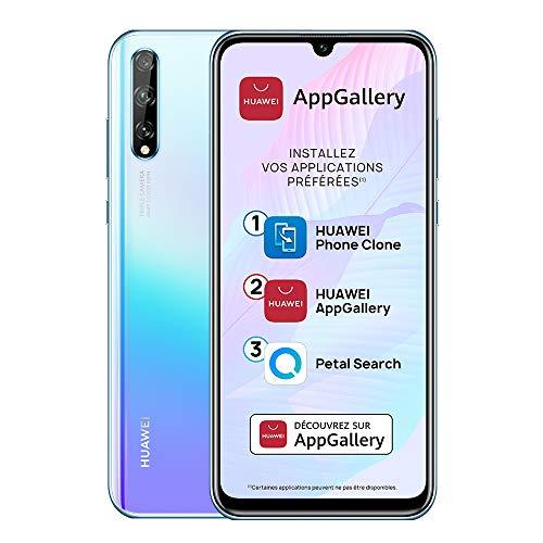 "Huawei P smart S Smartphone (6.3"", 4/128 Go, Double Nano SIM EMUI 10.1 & AppGallery), Triple Caméra avec Capteur Principal de 48MP, Breathing Crystal [Version Française] + Giftcard"
