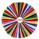 RZKJ-SHOP Fermeture Éclair Colorée en Nylon Couture, 100pcs/30cm Fermetures à...